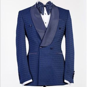 Other - Men Navy Blue DOUBLE BREASTED TUXEDO + Pants